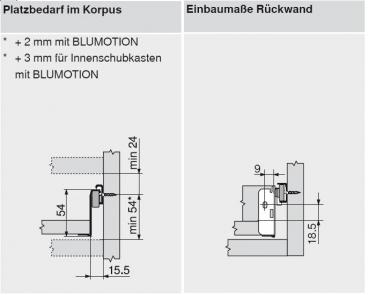 beschlaege online blum metabox stahlzarge n 54 mm teilauszug 25 kg nl 350 mm schraub. Black Bedroom Furniture Sets. Home Design Ideas