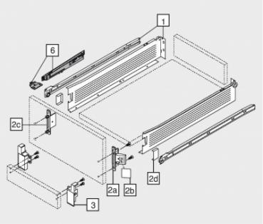beschlaege online abdeckkappen standard frontbefestigung blum metabox 320m k h. Black Bedroom Furniture Sets. Home Design Ideas