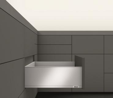 beschlaege online blum legrabox pure zarge c 176 8mm nl 270 650 mm oriongrau matt. Black Bedroom Furniture Sets. Home Design Ideas