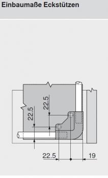 beschlaege online tandem movento tablareckst tze f r zwei relingstangen. Black Bedroom Furniture Sets. Home Design Ideas
