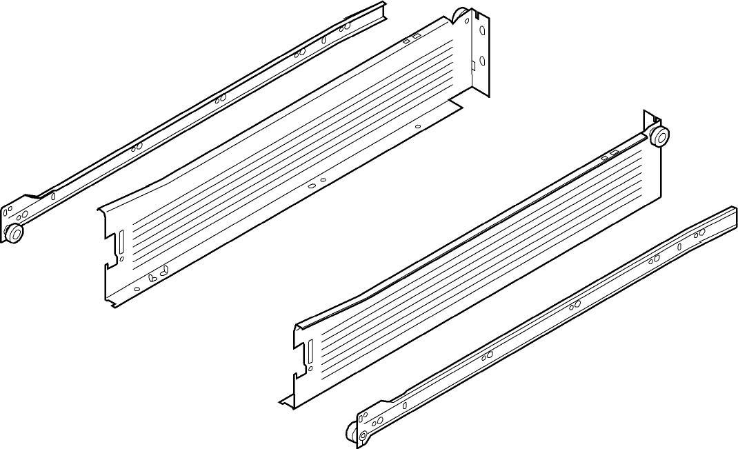 beschlaege online blum metabox stahlzarge m 86 mm teilauszug 25 kg nl 270 mm schraub. Black Bedroom Furniture Sets. Home Design Ideas