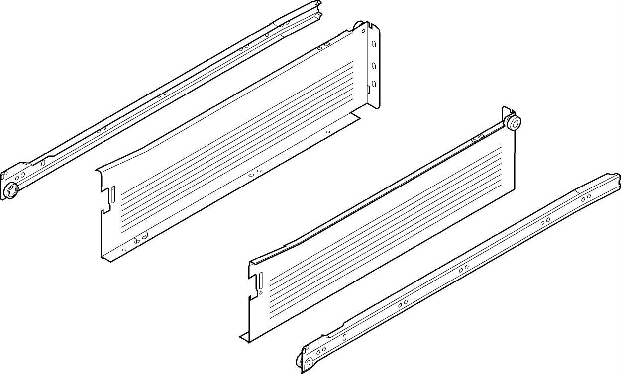 beschlaege online blum metabox stahlzarge k 118 mm teilauszug 25 kg nl 450 mm schraub. Black Bedroom Furniture Sets. Home Design Ideas